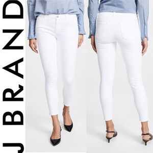 ❤️ J BRAND MID RISE CROPPED WHITE SKINNY JEANS 27